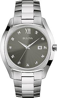 Men's Quartz Stainless Steel Dress Watch, Color:Silver-Toned (Model: 96D122)