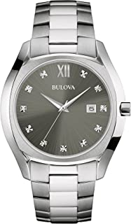 Men's Quartz Stainless Steel Dress Watch, Color:Silver-Toned (Model: 96D122)