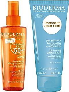 Bioderma Photoderm BRONZ Dry Oil SPF 50+ Tanning Sunscreen 200ml & Free Photoderm After-sun Milk 200ml