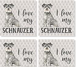 Carson Schnauzer Square House Coaster Set of 4