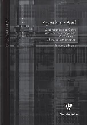 Clairefontaine Agenda de Bord 6 colonnes 144 pages 21 x 29,7 cm Couleurs Assorties
