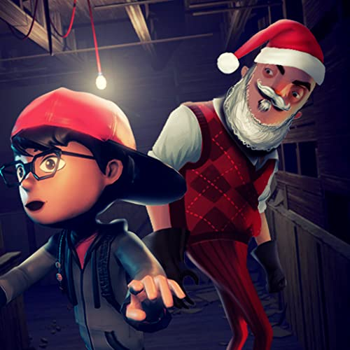 Crazy Five Nights Santa Claus Neighbor House: Child Escape Spooky Game 2020