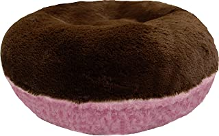 product image for BESSIE AND BARNIE Signature Cotton Candy/Grizzly Bear Luxury Shag Extra Plush Faux Fur Bagel Pet/Dog Bed (Multiple Sizes)