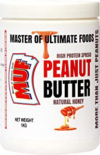 MUF Peanut Butter (Natural Honey) Creamy   1KG   100% Natural   Zero Added Sugar   Vegan   Limited Period Discount Offer