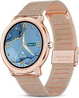 LIGE Smartwatch, Reloj Inteligente Mujer, Resistente al Agua IP67, con Pantalla Táctil Completa de 1,1'', Reloj para Mujer...