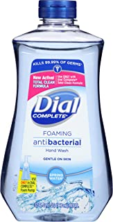 Dial Complete Antibacterial Foaming Hand Soap, Hand Wash, Refill, Spring Water, 32 Ounce