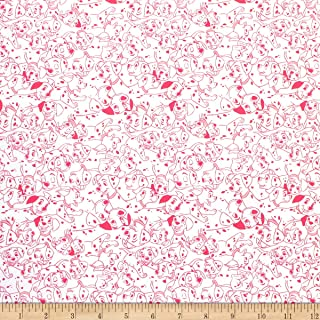 101 Dalmations Dalmatian Dots Pink Fabric by the Yard