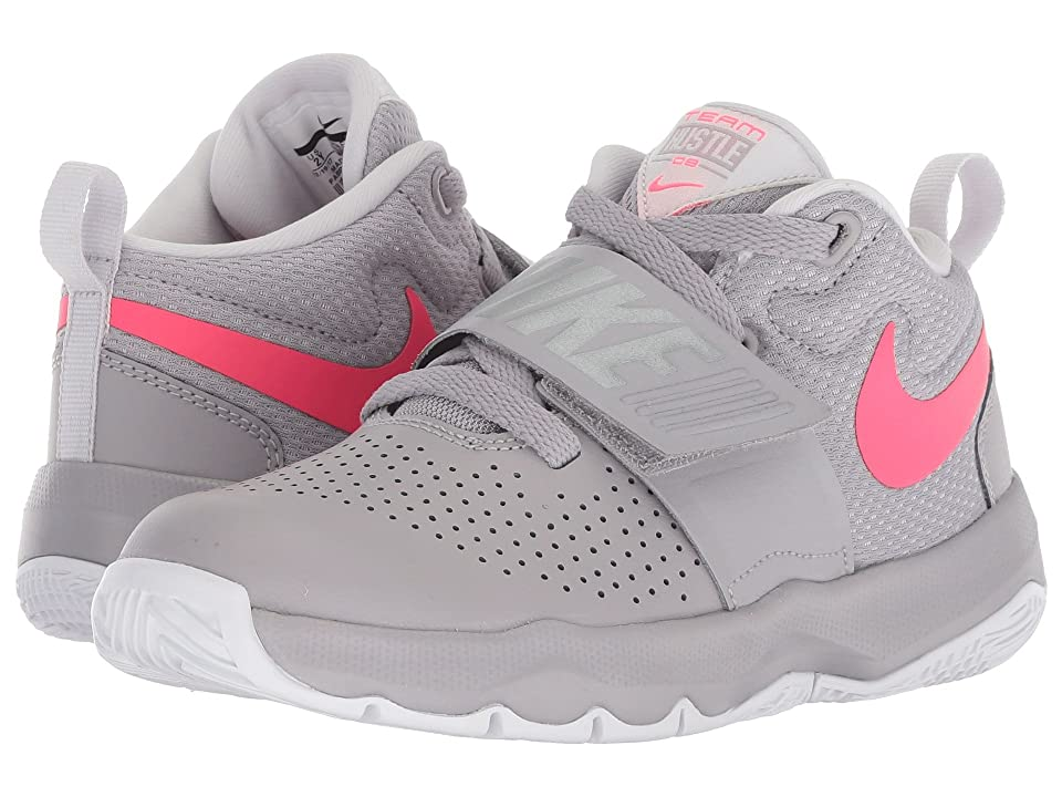 Nike Kids Team Hustle D8 (Little Kid) (Atmosphere Grey/Racer Pink/Vast Grey) Girls Shoes