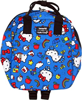 Loungefly x Hello Kitty 45th Anniversary Allover-Print Mini Nylon Backpack (One Size, Blue Multi)