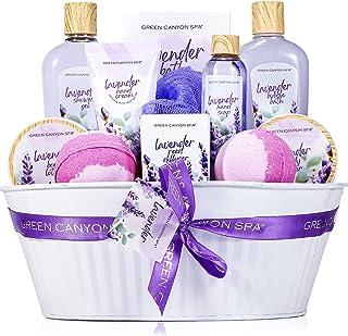 Sponsored Ad - Spa Gift Baskets for Women -12 Pcs Lavender Bath Stuff Gift Set Including Shower Gel Reed Diffuser Bubble B...