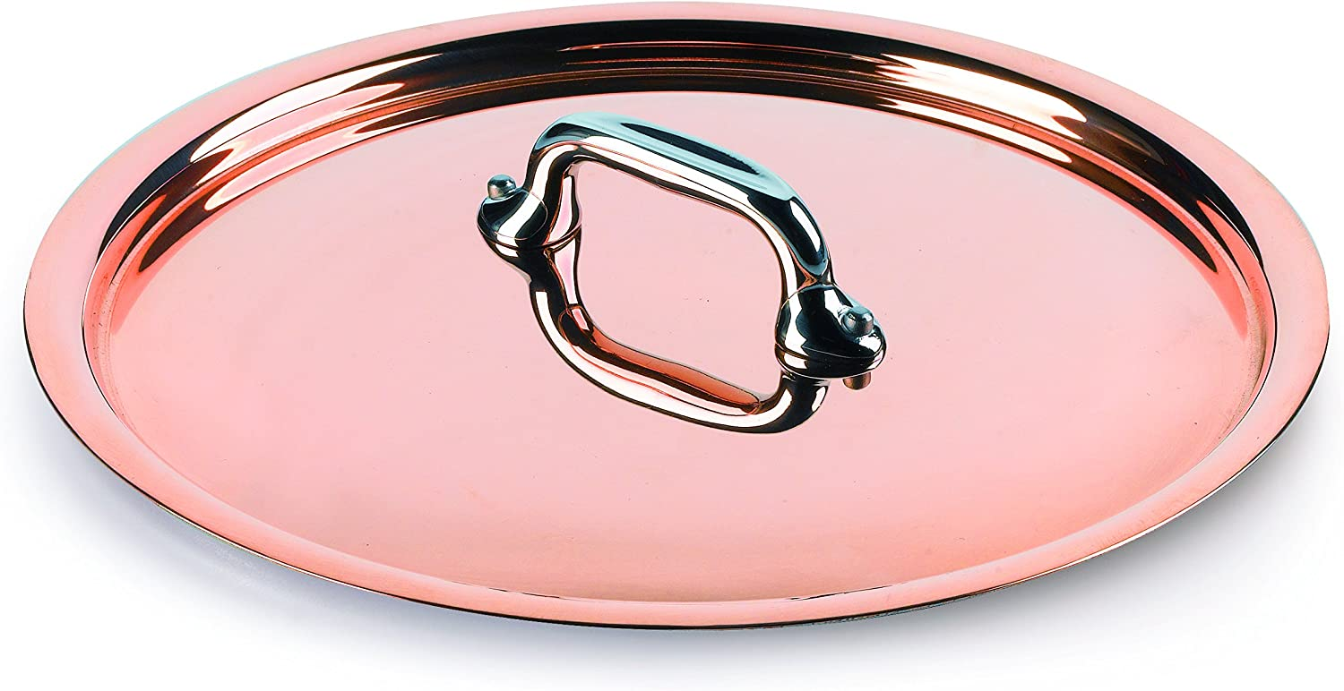 Mauviel Made In France M'Heritage Copper 150s 6118.12 4.8-Inch Lid with Cast Stainless Steel Handle