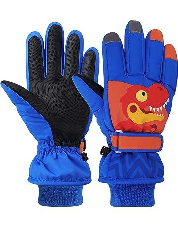 CLISPEED Guanti da Neve Invernali Impermeabili per Bambini pi/ù Caldi per Bambini Guanti da Neve per Bambini da Bambina Guanti da Freddo Sci Pattinaggio Guanti da Snowboard Rosa