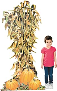 Corn Stalk and Pumpkins Cardboard Standup (almost 6 feet tall) Fall and Halloween Party Decor