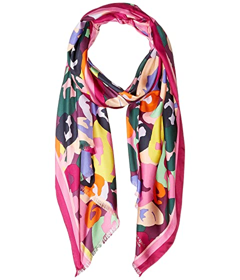 91dc62c1796e Kate Spade New York Painter Floral Oblong Scarf at Luxury.Zappos.com
