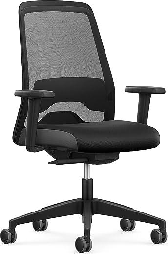 Interstuhl Bürostuhl Every EV25R Schreibtischstuhl ausgestattet mit Synchronmechanik und Verstellbarer Lordosenstütze für ergonomisches Sitzen