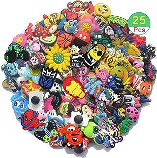 Bokcharms Lot of 25 50 100Pcs Random Shoe Charms for Jibbitz Croc Shoes & Bracelet Wristband