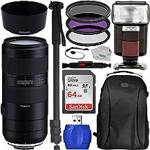 Tamron 70-210mm f/4 Di VC USD Lens for Nikon F Starter Bundle for D3300; D3400; D3500; D4s; D5; D500; D5200; D5300; D5500; D5600; D610; D7000; D7100; D7200; D750; D7500; D800E; D810; D810A & D850