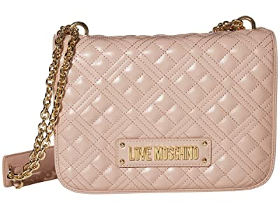 LOVE Moschino Quilted Shoulder Bag (Pink) Handbags