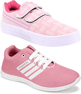 Shoefly Women's (9031-5054) Multicolor Casual Sports Running (Set of 2 Pair)