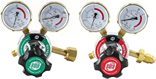 SÜA Oxygen and Acetylene 25HX Regulators Combo