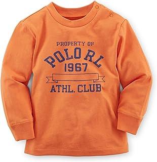 Ralph Lauren Baby Boys' Cotton Graphic Long-Sleeved Tee Bedford Orange