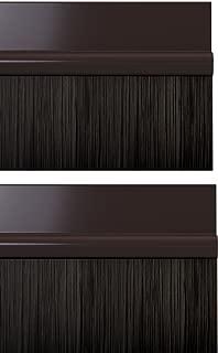 STORMGUARD 02AM0031000B Bds Self Adhesive Bottom of The Door Brush Draught Seal, Brown, 1 m, Set of 2 Pieces