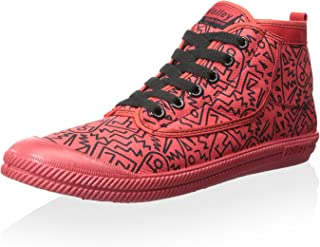Volley Men's High Leap Red Black Print High Top Sneaker