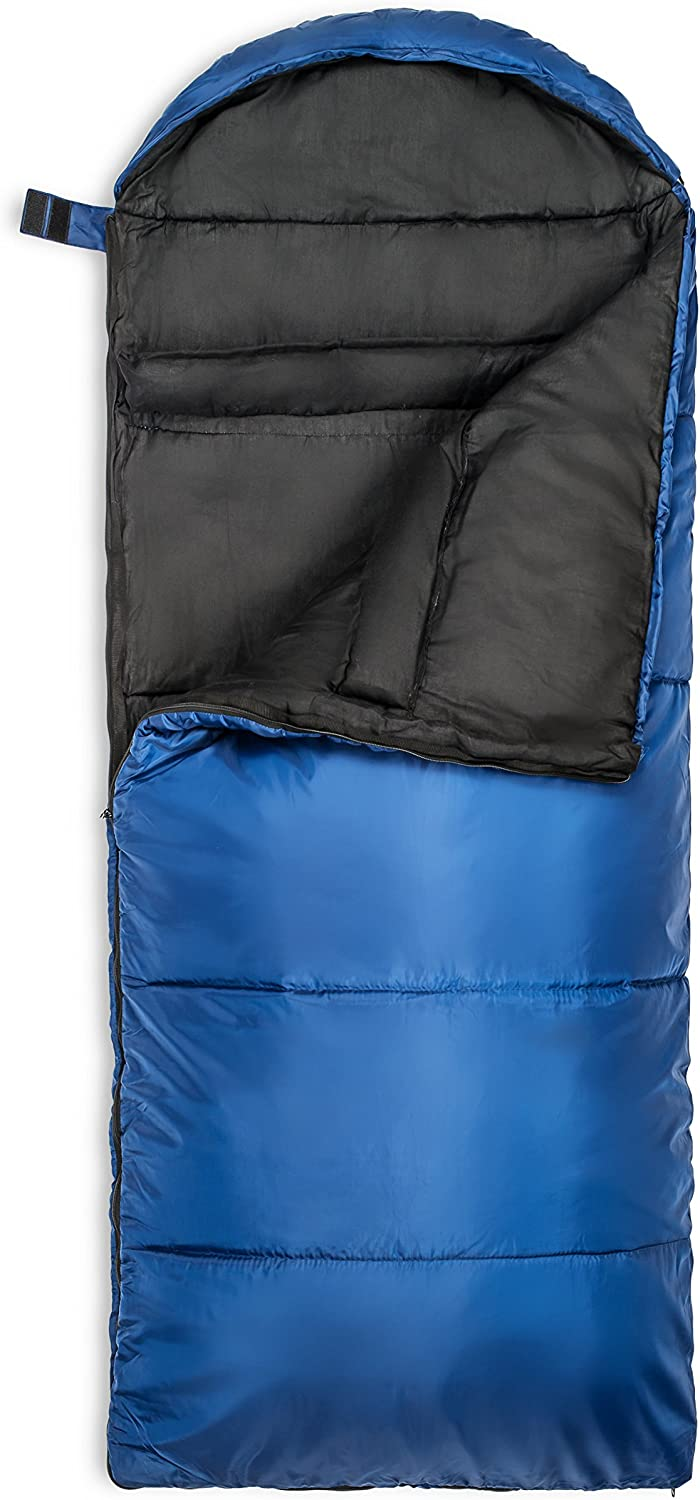 Lucky Bums Compact Lightweight Muir Spring Summer Fall Sleeping Bag Youth 40/°F//5/°C with Digital Accessory Pocket Compressing Carry Bag Included.