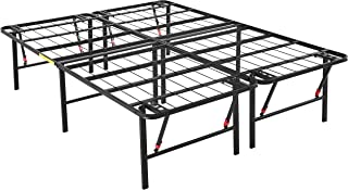 AmazonBasics Foldable Platform Bed Frame, Tool-Free Assembly, 18 Inch Height for Under-Bed Storage, Queen
