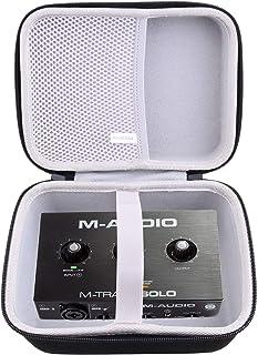 waiyu Hard EVA Carrying Case for M-Audio M-Track Solo – USB Audio Interface Case (small)