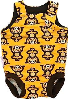 Kleine Könige Baby Strampler Junge Sommer Baby Body  Modell Äffchen gelb braun  Ökotex 100 zertifiziert  Größen 50-92