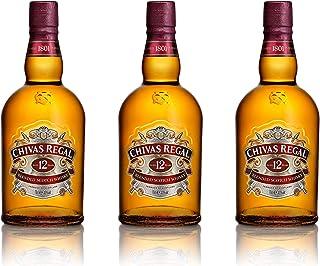 Chivas Regal 12 Jahre Blended Scotch Whisky 3er Set, Whiskey, Schnaps, Spirituose, Alkohol, Flasche, 40%, 3x700 ml