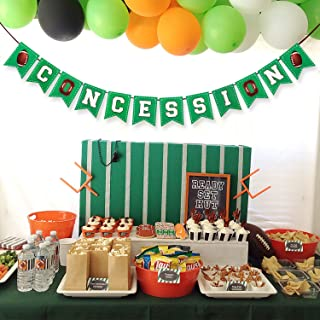 Football Themed Concessions Banner Football Themed Birthday Party Decoration Outdoor Concession Stand Banner Sports Game D...