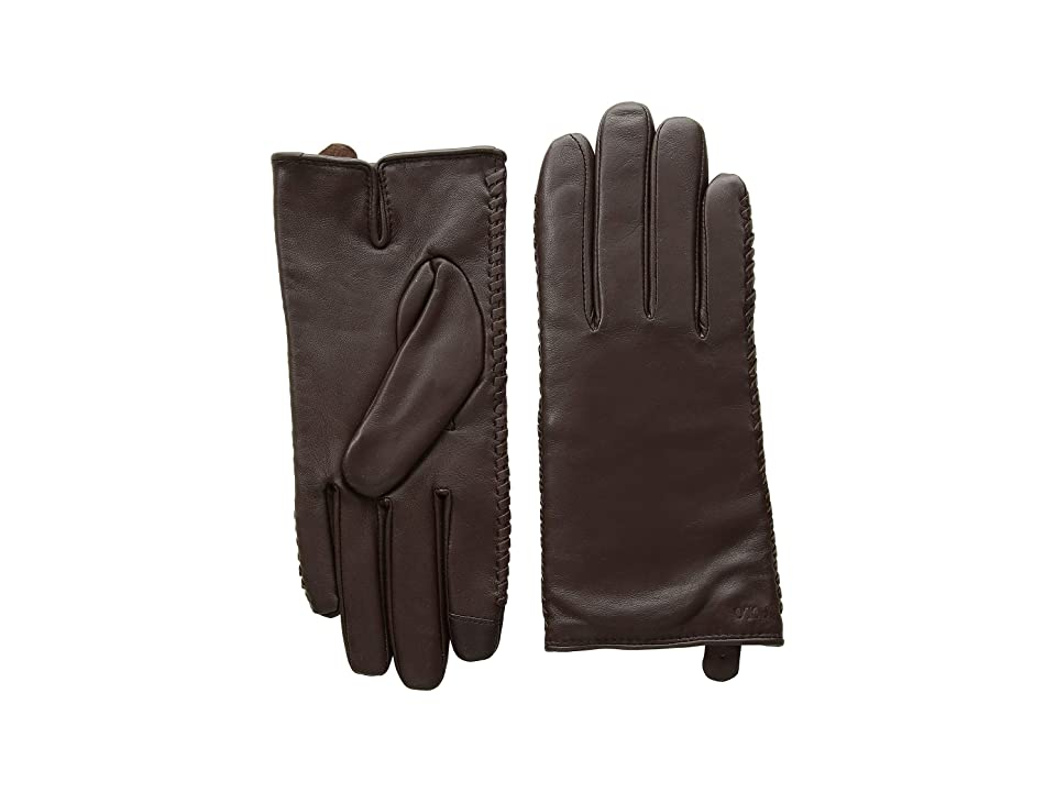 Polo Ralph Lauren Nappa Sheepskin Corsetted Gloves (Country Brown) Over-Mits Gloves