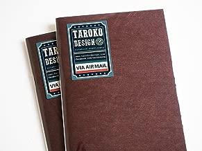 Taroko Design Tomoe River Regular Size Notebook, 2-Pack, Dots, Cream