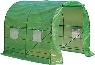 Invernadero de Jardín y Terraza para Cultivo de Plantas - Color Verde Transparente - Acero Polietileno