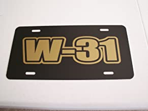W-31 ENGINE SIZE METAL LICENSE PLATE OLDS OLDSMOBILE 442 HURST CUTLASS 350 400 455 RAM AIR W30 TAG 6 X 12 HOT Rod Muscle CAR Classic Museum Collection Novelty Gift Sign GARAGE MAN CAVE
