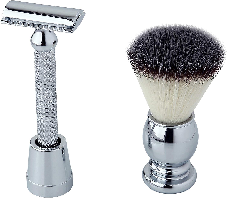 Pearl Shaving Razor Brush Sets Max 62% All items free shipping OFF Chrome SRS-27501