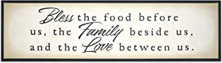 Sponsored Ad - Homekor Bless Family Love Inspirational Quotes Hanging Wall Decor Sign - Bless The Food Before Us, The Fami...