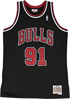 Mitchell & Ness Dennis Rodman Chicago Bulls NBA Throwback Jersey - Black