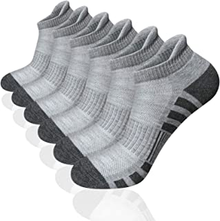 Airacker Ankle Athletic Running Socks Cushioned Breathable Low Cut Sports Tab Socks for Men and Women (6 Pairs)