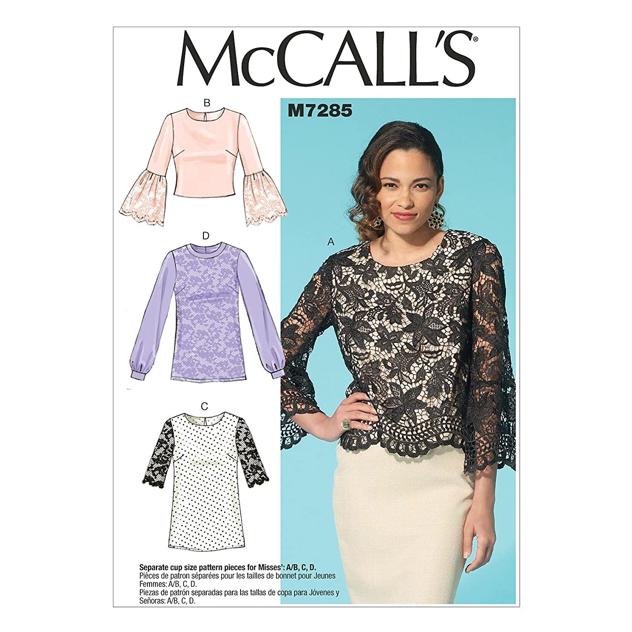 McCall's Patterns M7285 Misses' Tops, Size E5 (14-16-18-20-22)