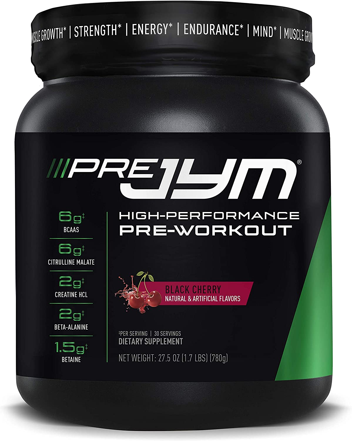 JYM Supplement Science Pre Jym 30 休み Cherry Black Count 国内正規総代理店アイテム