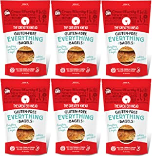 Greater Knead Gluten Free Bagel - Everything - Vegan, non-GMO, Free of Wheat, Nuts, Soy, Peanuts, Tree Nuts (24 bagels)