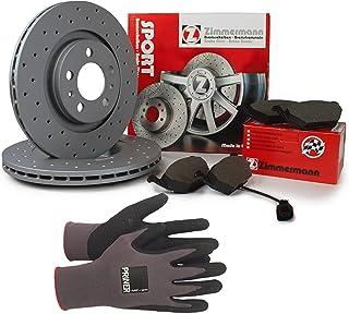 Inspektionspaket Zimmermann Sport Bremsen Set inkl. Bremsscheiben 312 mm und Bremsbeläge für vorne enthalten, 100% passend für Ihr Fahrzeug, inkl. Priner Montagehandschuhe, AN110