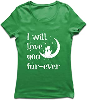lepni.me Camiseta Mujer Te amaré por Siempre Gatos Lindos y cariñosos Regalo Impresionante