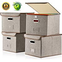 4 Pack Baseshop Large File Box with Lid