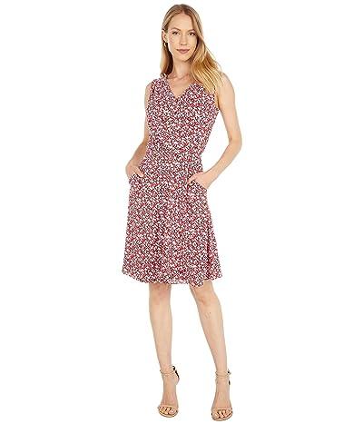 LAUREN Ralph Lauren Floral Crepe Sleeveless Dress