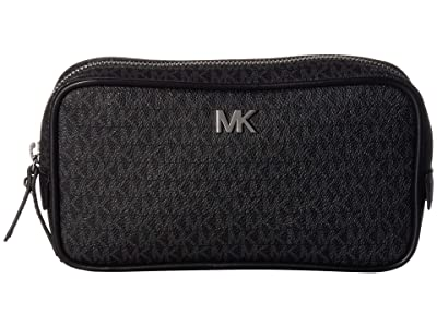 MICHAEL Michael Kors Signature Logo PVC Belt Bag (Black) Women