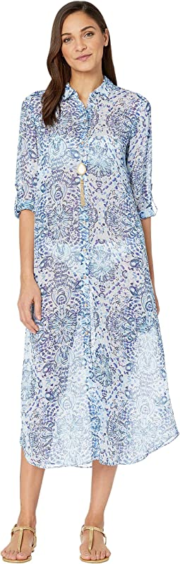 2bc45f2ece Resort White Call My Shell Phone Engineered Cover-Up. 11. Lilly Pulitzer.  Natalie Maxi Cover-Up